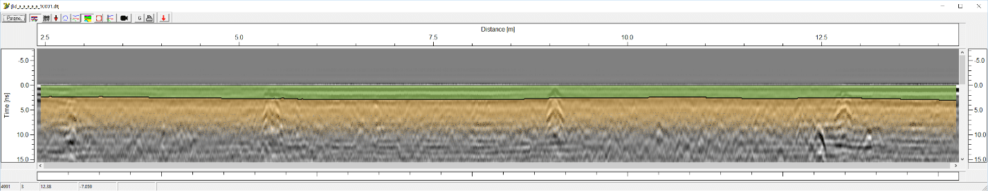 pipe penetrating radar data collected by the ACPS from the Harbourgreene Line in Surrey, British Columbia