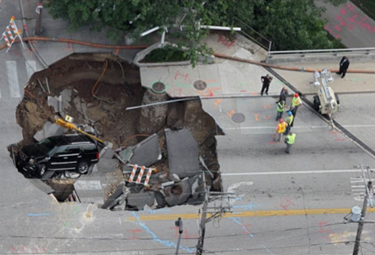 A rather significant sinkhole that could have been avoided